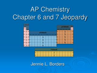 AP Chemistry Chapter 6 and 7 Jeopardy