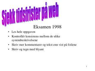 Eksamen 1998