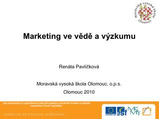 Marketing ve vědě a výzkumu