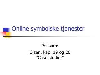Online symbolske tjenester
