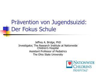 Prävention von Jugendsuizid: Der Fokus Schule