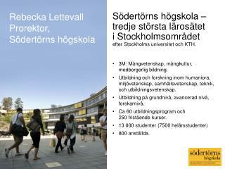 3M: Mångvetenskap, mångkultur, medborgerlig bildning.