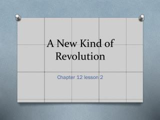 A New Kind of Revolution
