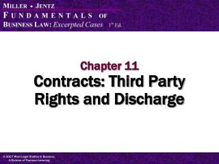 Chapter 11 Contracts: Third Party Rights and Discharge