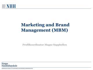 Marketing and Brand Management (MBM)