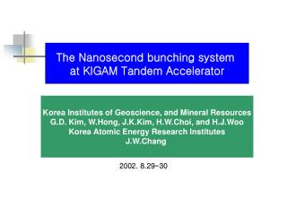 Korea Institutes of Geoscience, and Mineral Resources
