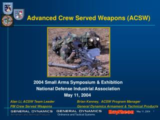 Advanced Crew Served Weapons ACSW