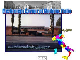Mezlernejo Cavour el Modeno. Italio