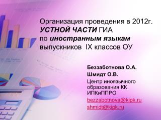 Беззаботнова О.А. Шмидт О.В. Центр иноязычного образования КК ИПКиППРО bezzabotnova@kipk.ru