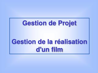 Présentation Tableau des phases Graphique PERT Planification Méthode Cocomo La dimension humaine