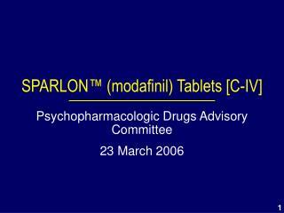 SPARLON  modafinil Tablets [C-IV]