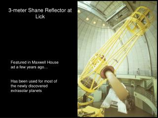 3-meter Shane Reflector at Lick