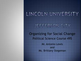 Lincoln University Jefferson City