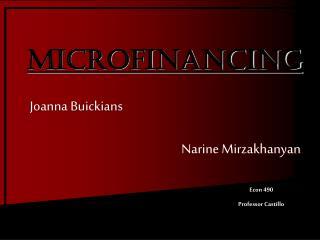 Joanna Buickians  Narine Mirzakhanyan