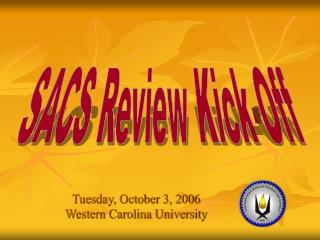 Tuesday, October 3, 2006 Western Carolina University
