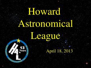 Howard  Astronomical League