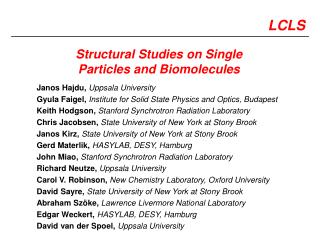 Structural Studies on Single Particles and Biomolecules