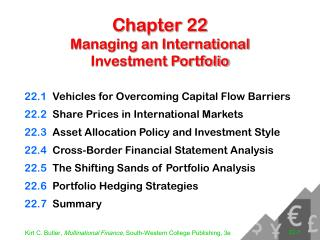 Chapter 22 Managing an International Investment Portfolio