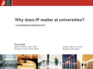 Why does IP matter at universities?
