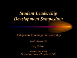 Student Leadership Development Symposium