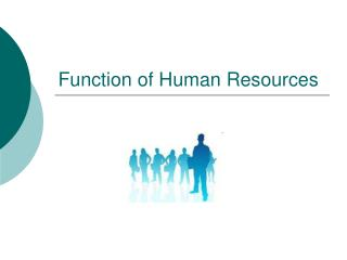 Function of Human Resources