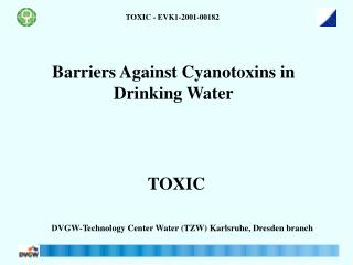 Barriers Against Cyanotoxins in Drinking Water