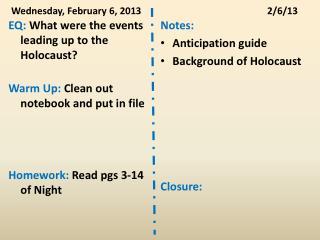 Wednesday, February 6, 20132/6/13