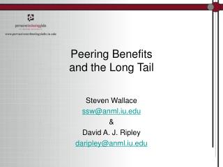 Peering Benefits and the Long Tail