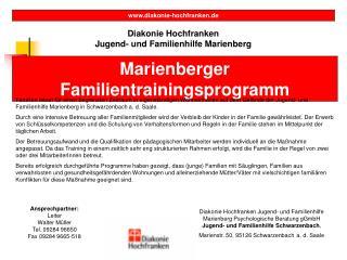 Diakonie Hochfranken Jugend- und Familienhilfe Marienberg