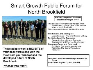 Smart Growth Public Forum for North Brookfield
