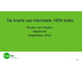 De  kracht  van  informatie : HDN Index