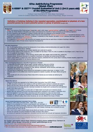 KiVa: Anti-Bullying  Programme (Welsh Pilot)