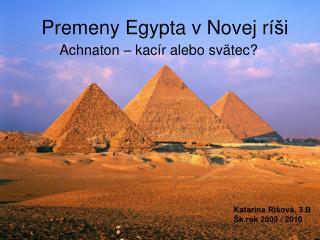 Premeny Egypta v Novej r íši