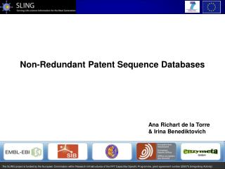 Non-Redundant Patent Sequence Databases