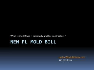 New FL MOLD Bill