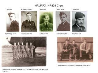 HALIFAX  HR839 Crew