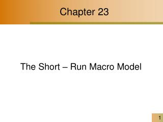 The Short   Run Macro Model