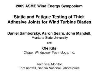 2009 ASME Wind Energy Symposium
