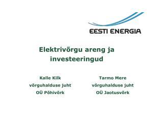 Elektrivõrgu areng ja investeeringud