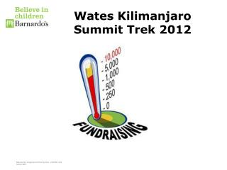 Wates Kilimanjaro Summit Trek 2012