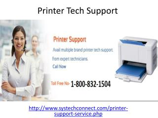 Contact Printer Tech Support 1-800-832-1504