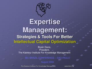 Expertise Management: