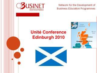 Unité  Conference  Edinburgh 2010