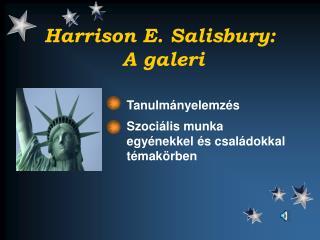 Harrison E. Salisbury:  A galeri