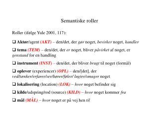 Semantiske roller