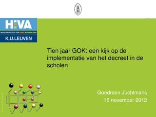 Tien jaar GOK: een kijk op de implementatie van het decreet in de scholen