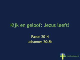 Kijk en geloof: Jezus leeft!
