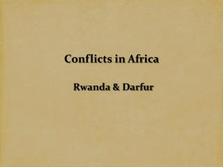 Conflicts in Africa