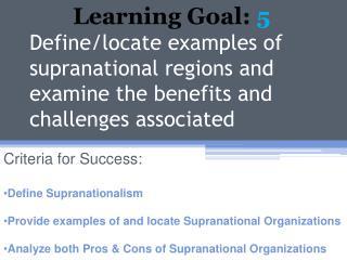 Learning Goal: 5