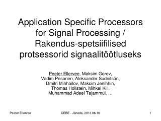 Biomedical Signal Proce s sing